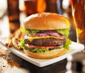Sunday is Burger Night at the Moose Lodge Boathouse