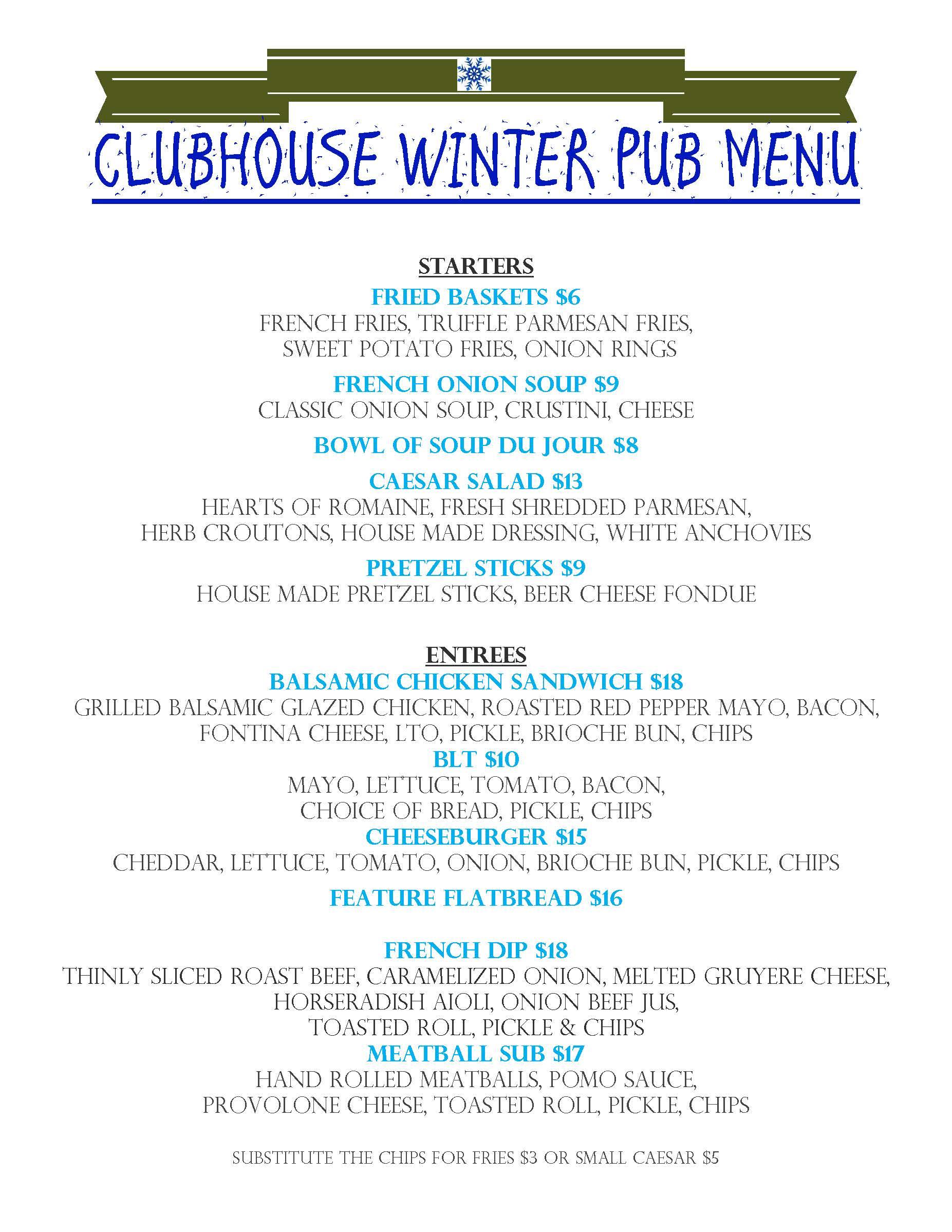all day winter menu